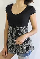 Футболка женская черная M/L  L/XL  AA7906