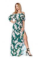 Сарафан-платье длиной в пол из легкого софта