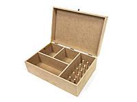Ящик органайзер для ниток, шитья, рукоделия. Заготовка из МДФ для декупажа или росписи ОД-07