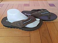 Шлепанцы кожаные мужские Khaki 501