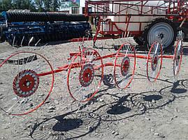"""Грабли ворошилка """"Солнышко"""" 5 колёс, фото 2"""