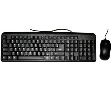 Комплект HQ-Tech KM-102 USB+PS/2 Black