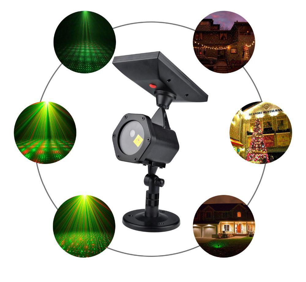 Уличный лазерный проектор Ecolend  30 1 на солнечной батарее