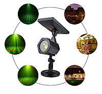 Светодиодный  уличный лазерный проектор Ecolend  30 1 на солнечной батарее