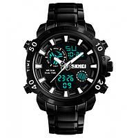 Часы тактические 3 АТМ Skmei 1306 Black Edition (Original)!, фото 1