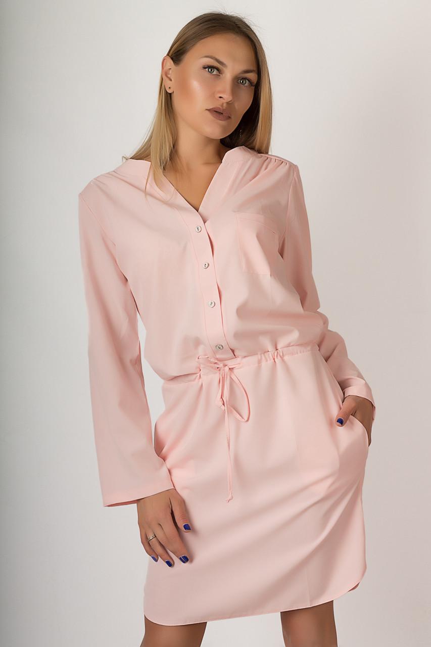 Женское короткое платье №48-409
