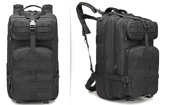 Тактический (городской) рюкзак Oxford 600D с системой M.O.L.L.E на 40 литров Black (ta40-black)