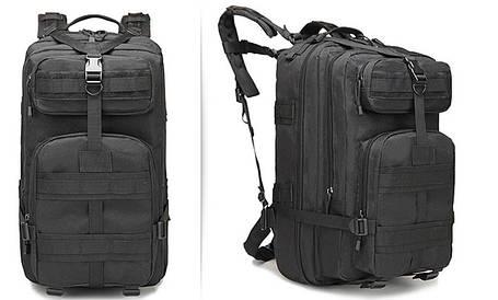 Тактический (городской) рюкзак Oxford 600D с системой M.O.L.L.E на 40 литров Black (ta40-black), фото 2