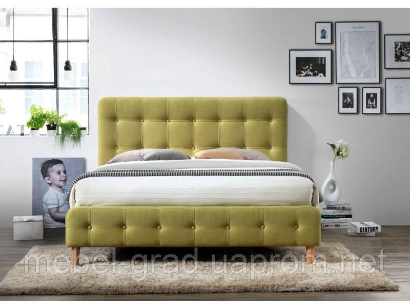 Кровать двухспальная Alice Signal зеленый 160х200