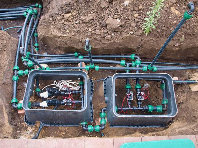 Монтаж электромагнитных клапанов - фото