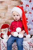 Новорічна Шапка Дитяча Діда Мороза Ковпак Санта Клауса Santa Claus Ельф Червона Подовжена