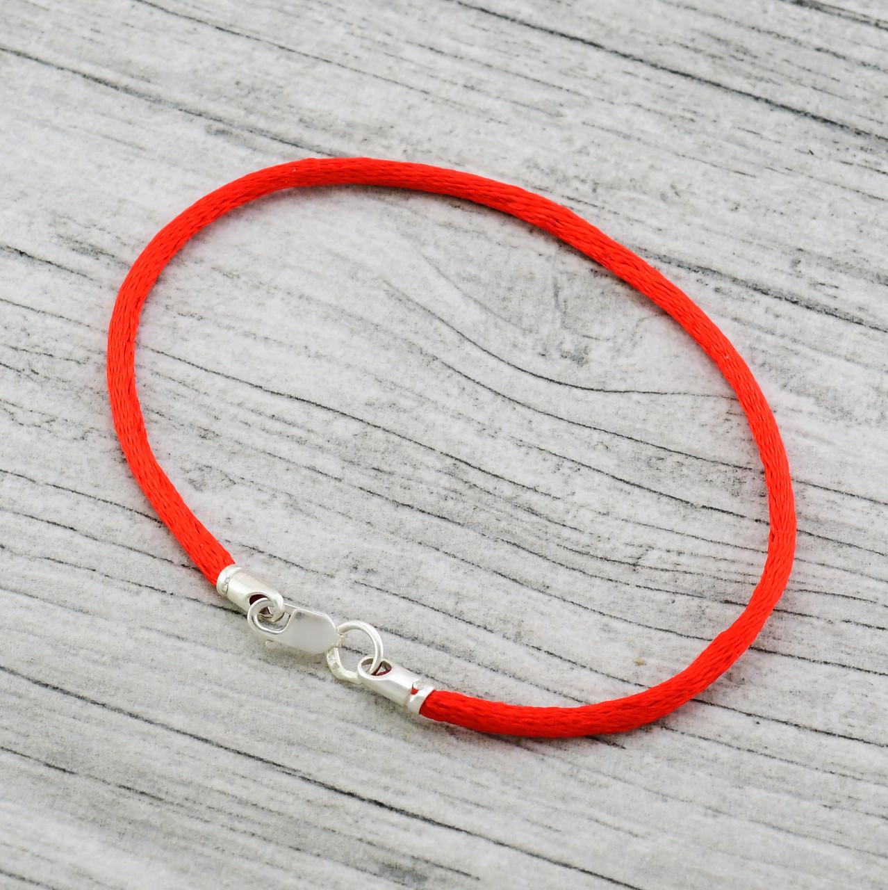 Серебряный браслет оберег 4033, ширина 2 мм, длина 16 см, вес 0.7 г
