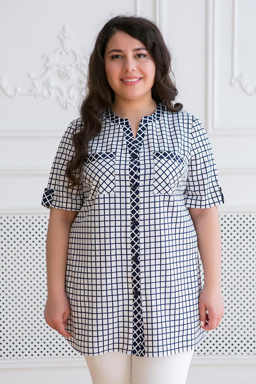 f924caf9a557 Женская рубашка большого размера АРМИНА ТМ Таtiana 56-62 размер - Интернет-магазин  одежды