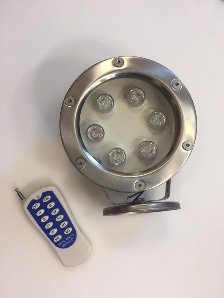 Подводный светодиодный светильник Ecolend 6W RGB управление пульт