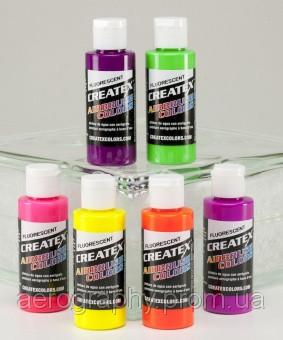Краски для аэрографии Createx Fluorescent Set .