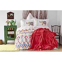 Набор постельное белье с покрывалом пике Karaca Home - Marodisa 2018-2 pike jacquard евро