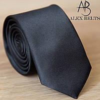 Галстук узкий черный однотонный   Lan Franko. Арт.:GMUO003