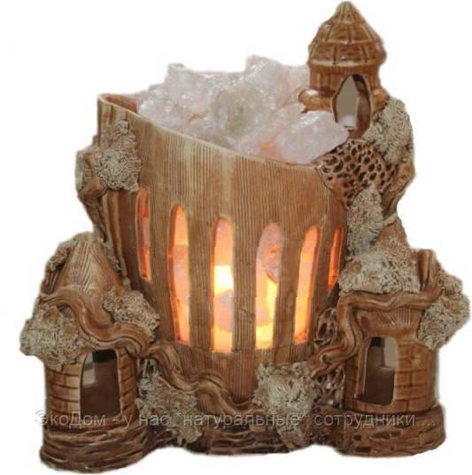 Замок с кристаллами соли