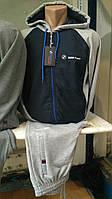 Спортивный костюм мужской BMW Porshe Турция трикотаж капюшон, фото 1