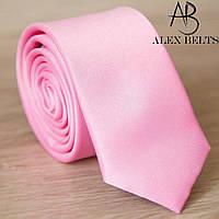 Галстук узкий розовый однотонный   Lan Franko. Арт.:GMUO008