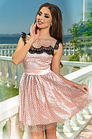 Очень модное платье с сеткой в горох, фото 1