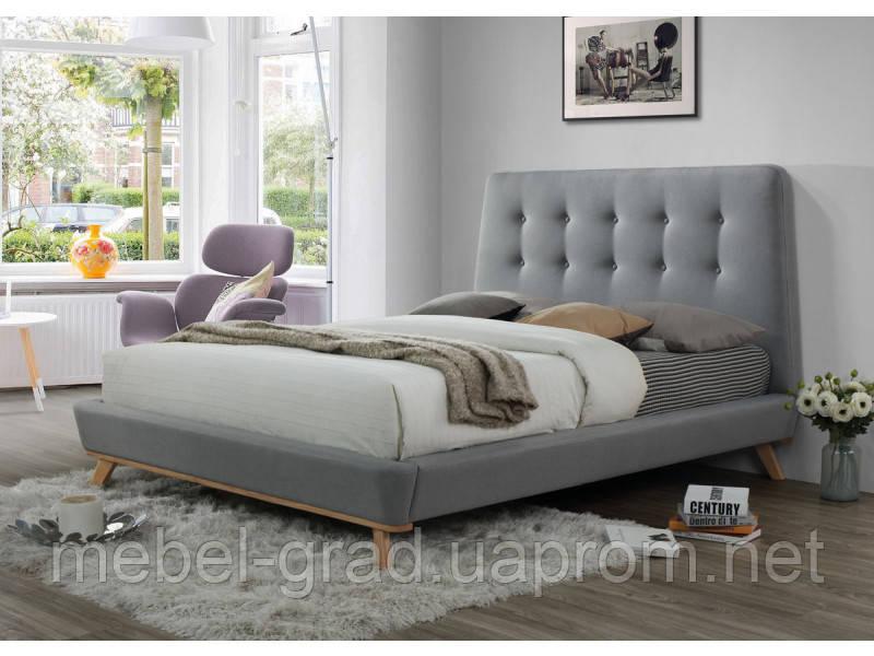 Кровать двухспальная Dona Signal серый 160х200