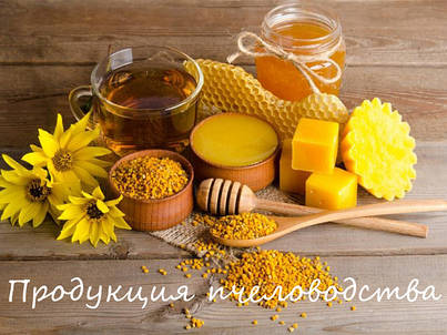 Продукция пчеловодства: мёд, пыльца, перга, воск, прополис