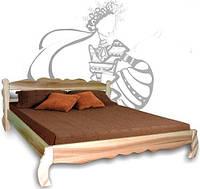 Кровать Алеся из натурального дерева