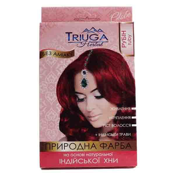 Фарба для волосся Triuga Рубін на основі хни 25 г