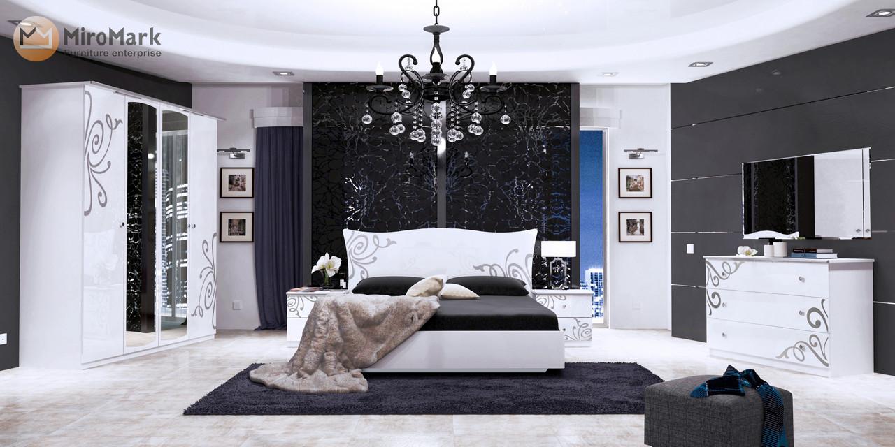Кровать Bogema 180*200 c каркасoм и подъемным механизмом глянец белый ТМ Миро Марк, фото 2