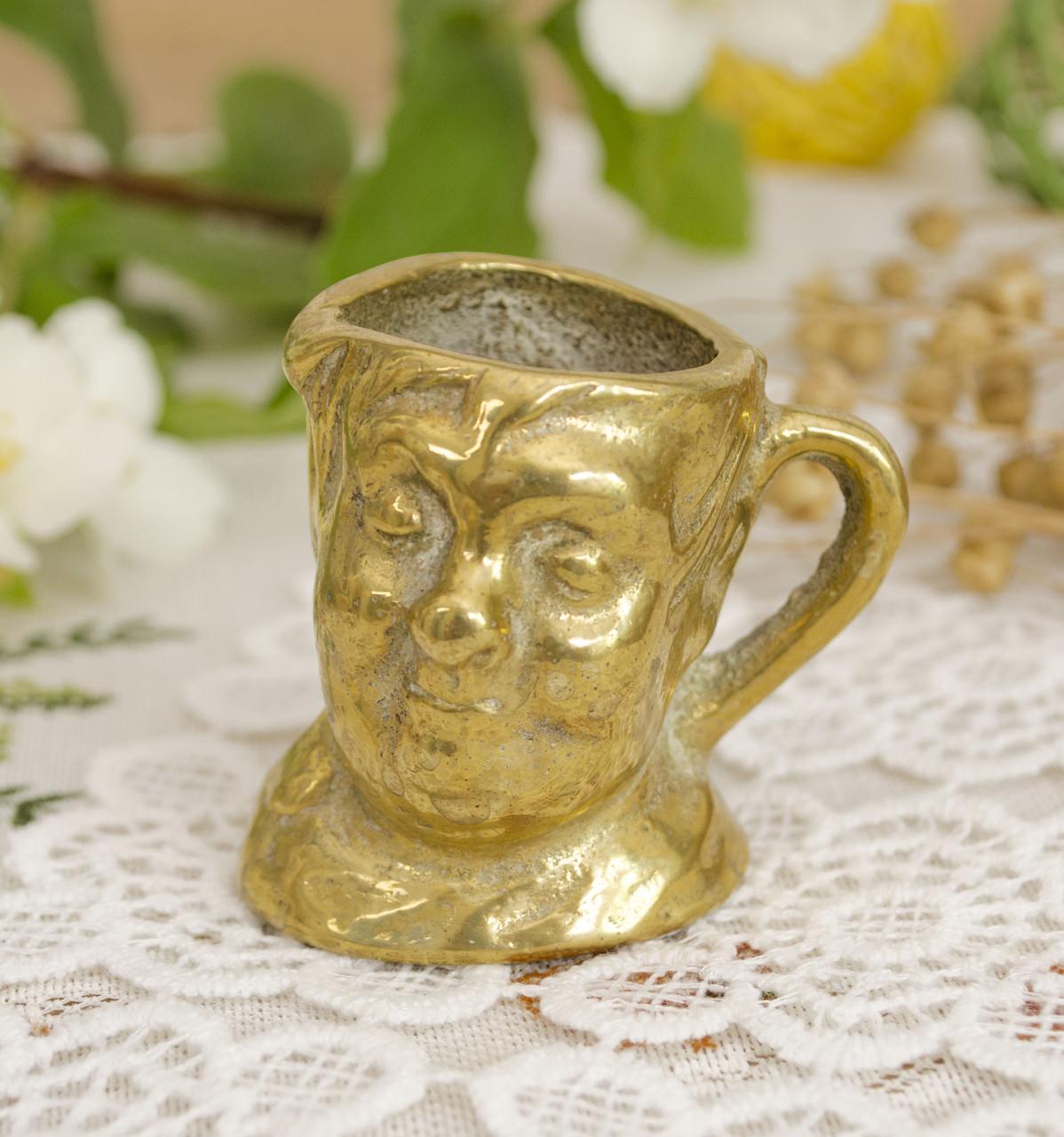 Коллекционная миниатюра, мини бокал, бронза, литье, Германия