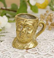 Коллекционная миниатюра, мини бокал, бронза, литье, Германия, фото 1