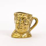 Коллекционная миниатюра, мини бокал, бронза, литье, Германия, фото 2