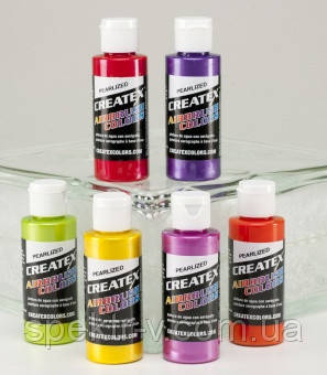 Краски для аэрографии Createx Colors / Createx Pearl Set.