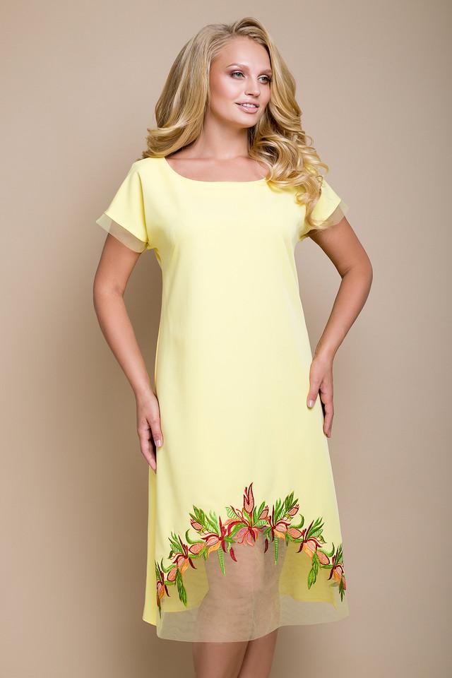 3b7a0d11f4a Женское желтое платье большого размера Фелида ТМ Luzana 50-56 ...