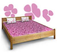 Кровать двуспальная из дерева Азалия