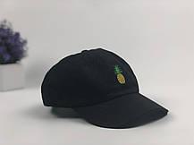 Кепка бейсболка Ананас (черная), фото 2