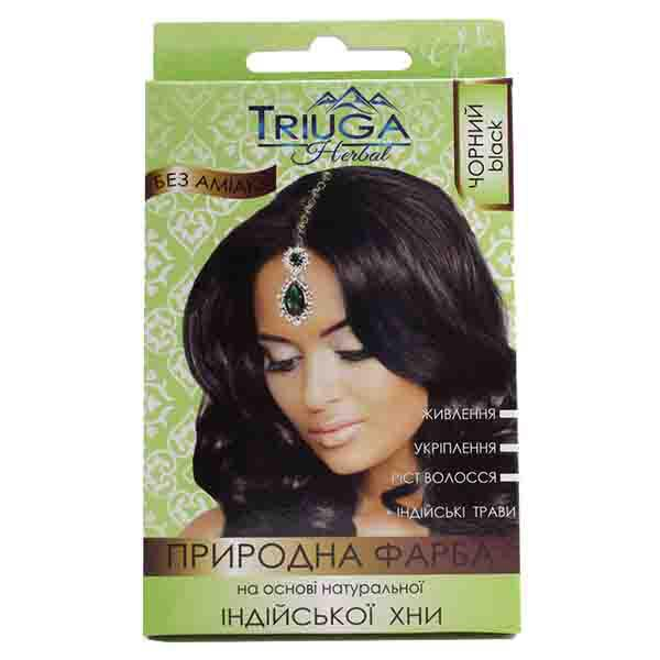 Фарба для волосся Triuga Чорна на основі хни 25 г