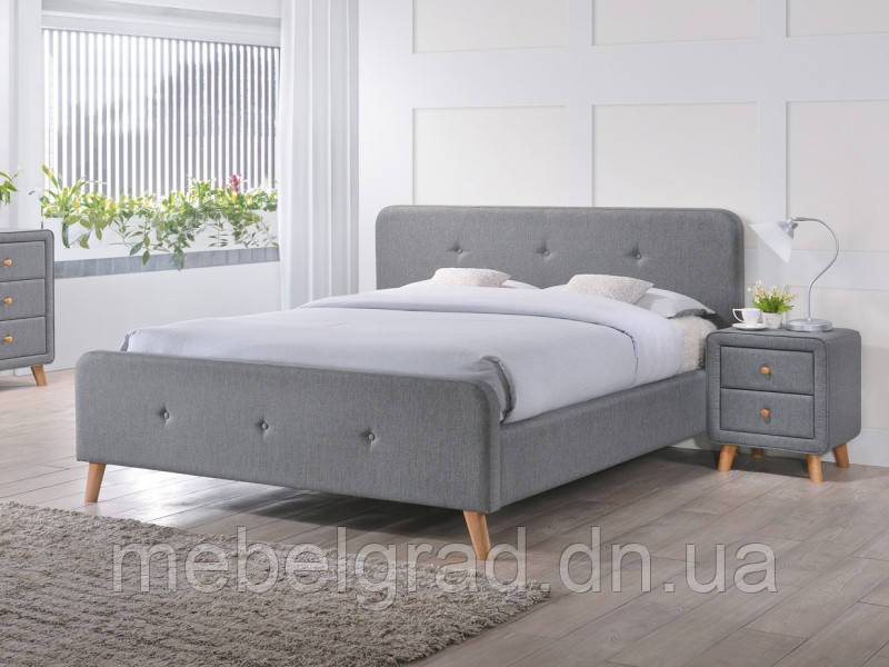 Кровать двухспальная Malmo Signal серый 140х200