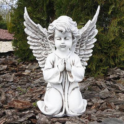 Садовая фигура Ангел большой светящийся 35 см