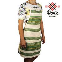 Фартук для кухни с зеленым орнаментом