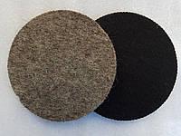 Войлок круг Velcro полировать гранит, мрамор, стекло 125x6 после Черепашек