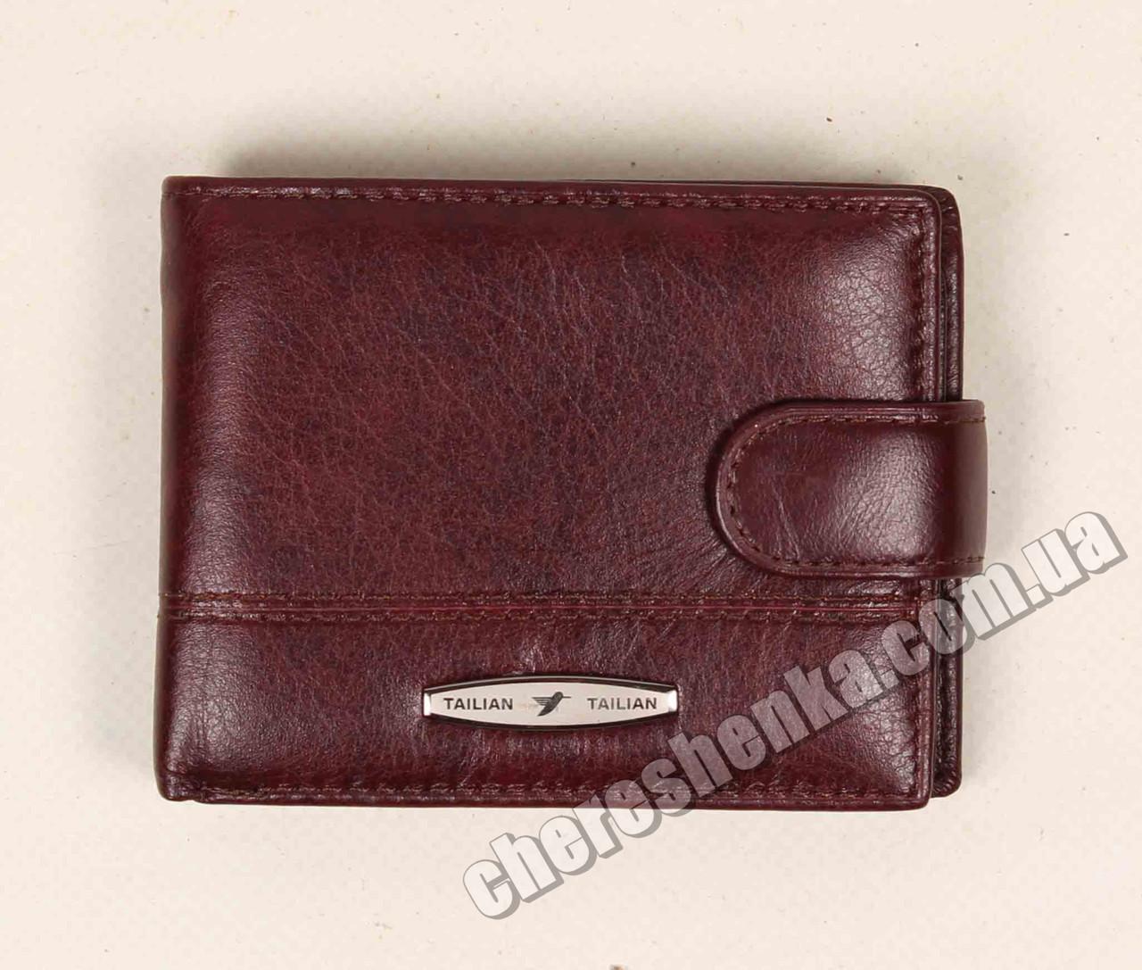 Мужской кожаный кошелек Tailian T156D-12H09-B