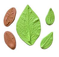 "Молд (молды)Набор N2 5 шт Листья+лепесток(лист) ""Клематис""(Клематиса) для Фоамирана,полимерной глины"