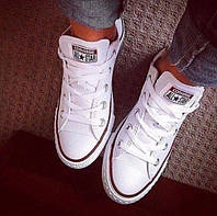 """Кеды  женские текстильные Converse All Star Original """"Белые низкие""""  36,39,40,41 р, фото 1"""