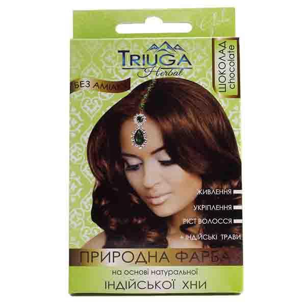 Фарба для волосся Triuga Шоколад на основі хни 25 г