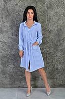 Стильная летняя платье-рубашка (811), фото 1