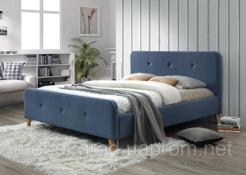 Кровать двухспальная Malmo Signal джинс 140х200