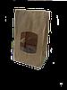 Пакет В, 280х170х120 мм., с окном крафт бурый, 70 г/м2, прям.дно