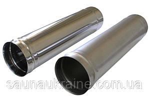 Труба для дымохода 1 м. диаметр 120 мм толщина 0.5мм